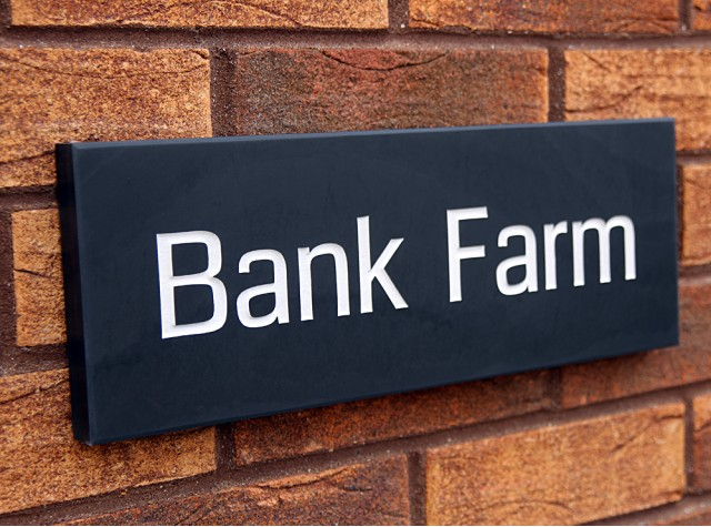 House Signs 150 X 400 Deep Engraved Welsh Slate House